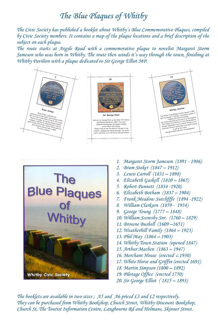 Blue Plaques of Whitby